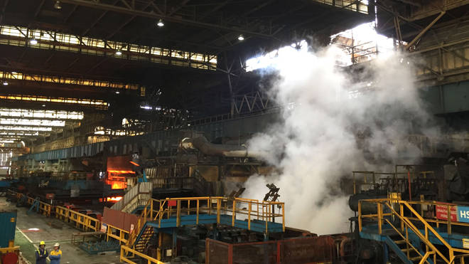 The worker died at the Tata steelworks in Port Talbot (file image)