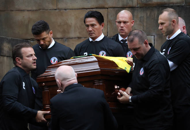 Fernando Ricksen's funeral was held at Wellington Church in Glasgow