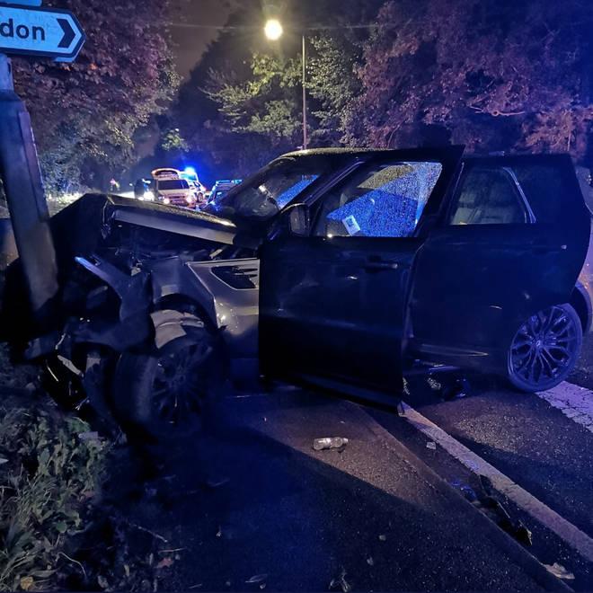 The crash occurred in Allestree last night