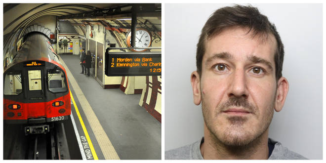JailedStefano Violante, 31, filmed himself assaulting his victim on board a late-night Northern Line train in 2018.