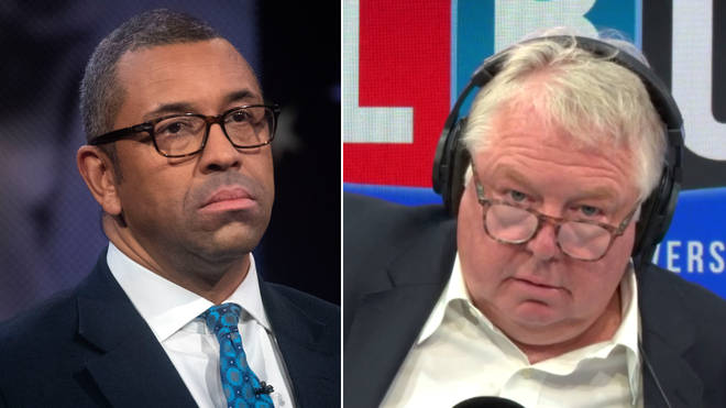 Nick Ferrari grilled James Cleverly over Boris Johnson's use of language