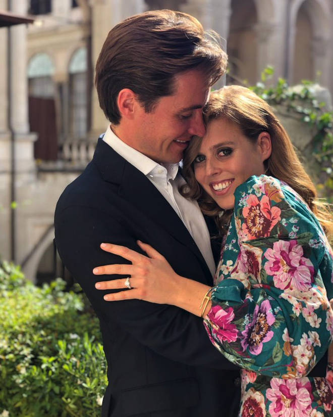 The couple got engaged during a weekend away in Italy