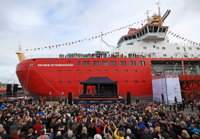 The vessel will be used in the Arctic and Antarctica to study the planet's oceans