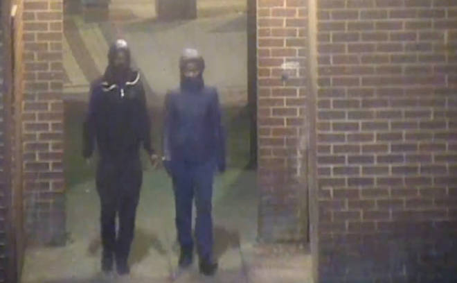 Police are now trying to identify these two men