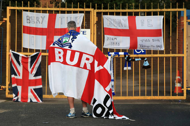 Bury's plea for re-entry to the football league was rejected on Thursday