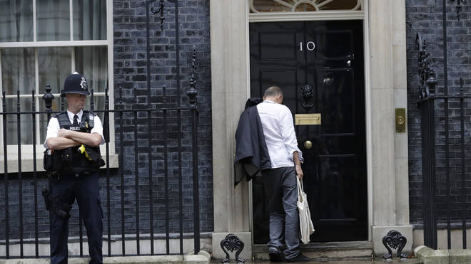 """Mr Cummings is """"enjoying"""" his time helping out at No 10"""