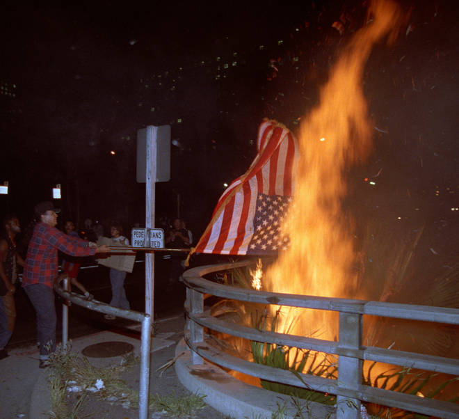 Los Angeles was subjected to mass riots in 1992 following four white police officers being acquitted of beating up black taxi driver Rodney King.