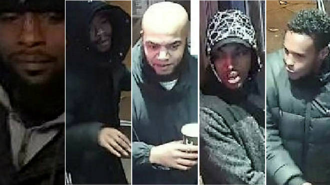 Police want to speak to five suspects