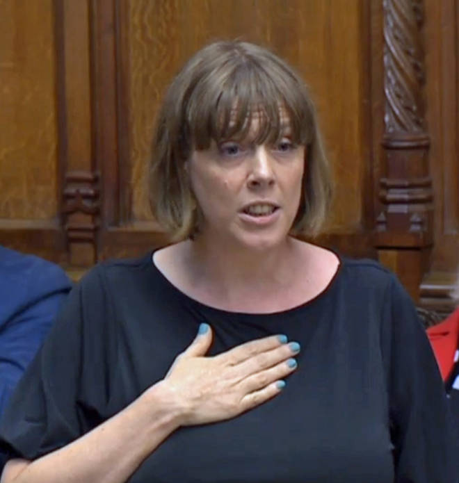 Jess Phillips in the House of Commons yesterday
