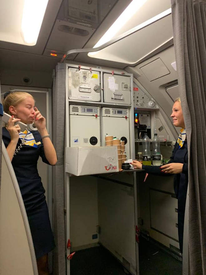 The Thomas Cook cabin manager said a very tearful thank you to passengers for their collection