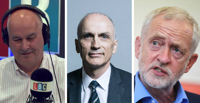 Iain Dale, Chris Williamson and Jeremy Corbyn