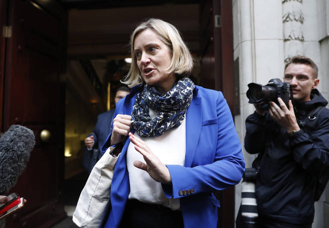 Amber Rudd has today accused the prime minister of using language that incites violence