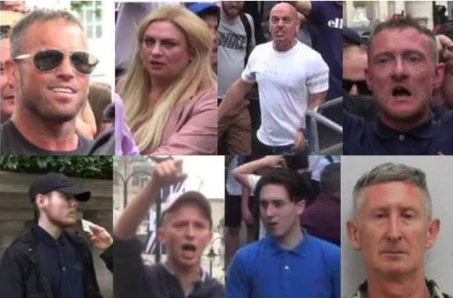 Eight individuals involved in violent disorder during a Tommy Robinson rally have been sentenced