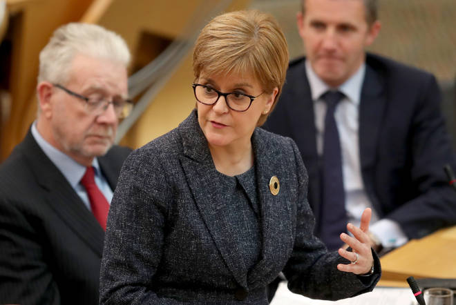 Nicola Sturgeon said she is open-minded about who could lead a temporary government