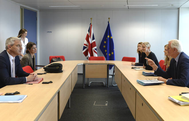 Michel Barnier met with Irish Foreign Minister Simon Coveney and UK Brexit secretary Stephen Barclay