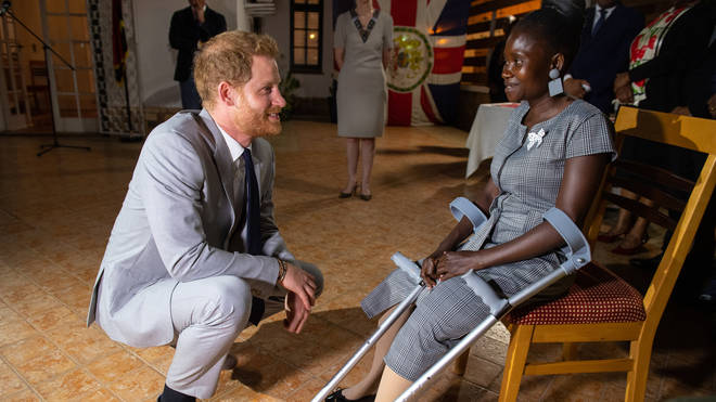 Sandra Thijika told Prince Harry she has named her daughter after his late mother