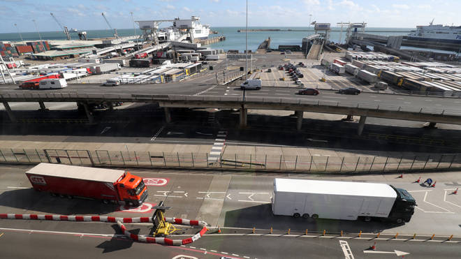 A ferry had to be evacuated early today at Dover and the army bomb squad was called (file image)