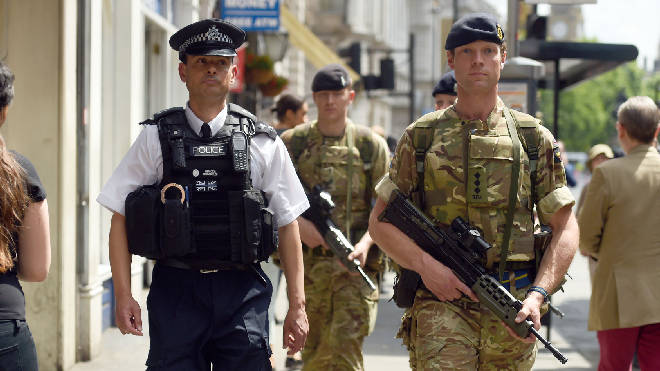 Soldiers were deployed to assist police in the wake of terror attacks in 2017