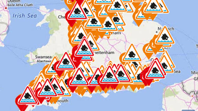 61 flood warnings have been issued across England and Wales as more rain is expected over the next two days.