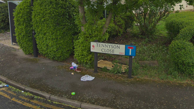 A woman has died at an address on Tennyson Close, Enfield