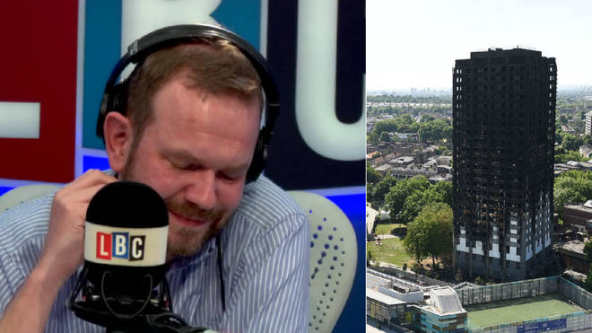 James O'Brien got very emotional when hearing the Grenfell tributes