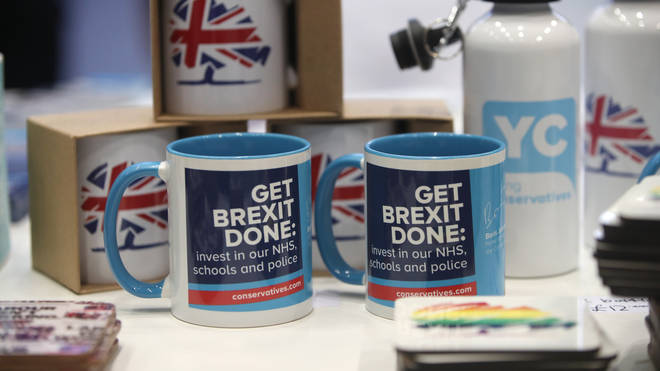 Some merchandise on sale at the Tory Party conference