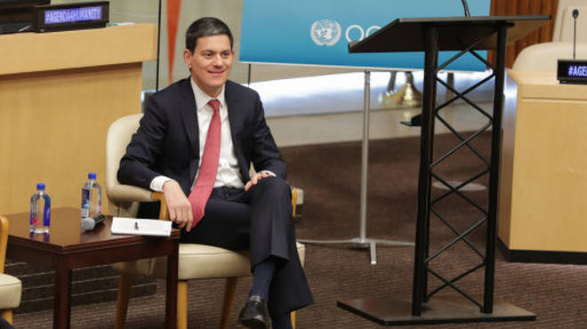 David Miliband at a UN Global Humanitarian Policy Forum in 2017