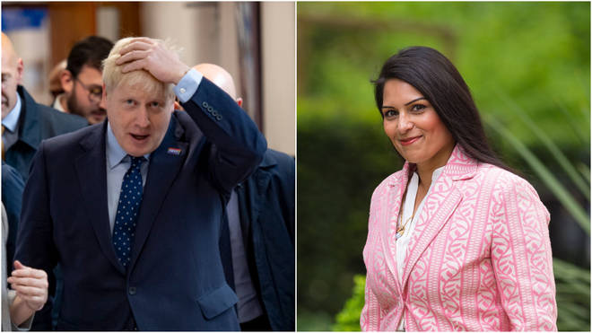 Boris Johnson and Priti Patel fell out during a cabinet meeting over flying children in Syrian camps back to the UK