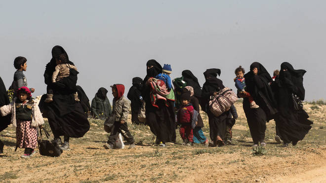 Families of ISIS fighters are allegedly being smuggled out of camps in Syria