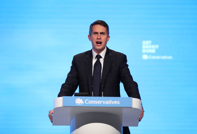Gavin Williamson set out his education targets at the Conservative Party Conference