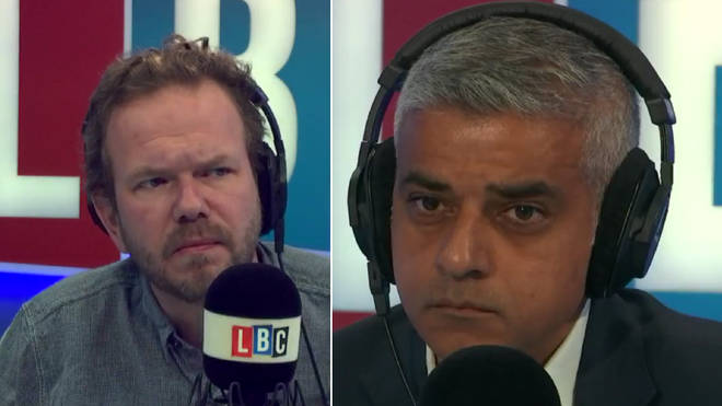 James O'Brien with Sadiq Khan