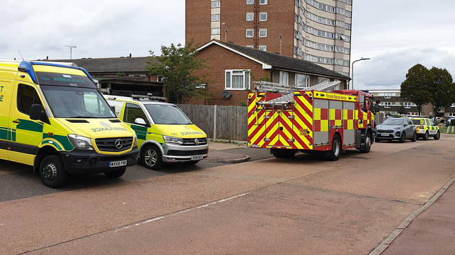 Emergency services were called to the scene at around 2:30pm on Monday
