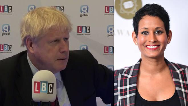 Boris Johnson admitted he's not heard of Naga Munchetty