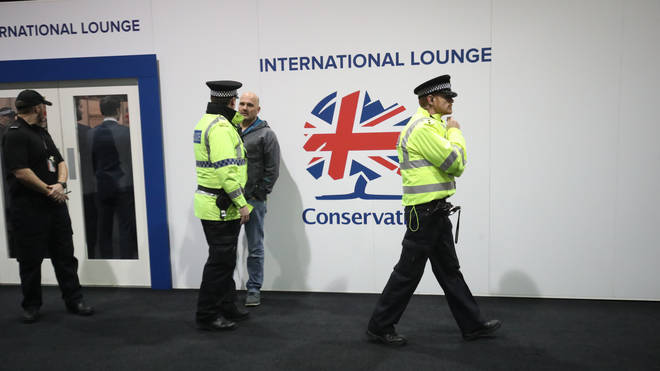 "Police arrive at the Conservative Party Conference after a ""small misunderstanding"""