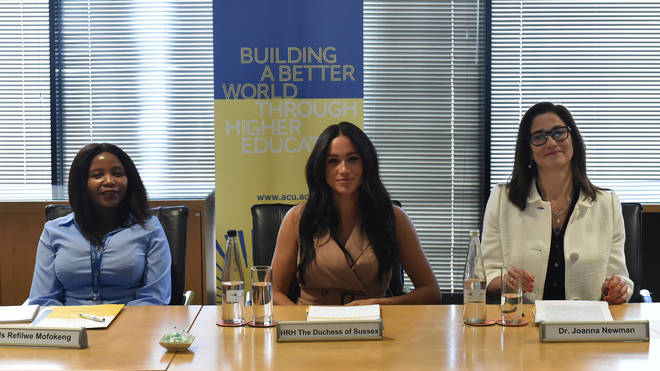 Meghan during the roundtable at the University of Johannesburg