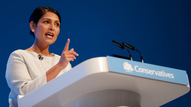 The Home Secretary spoke at the Conservative Party Conference in Manchester