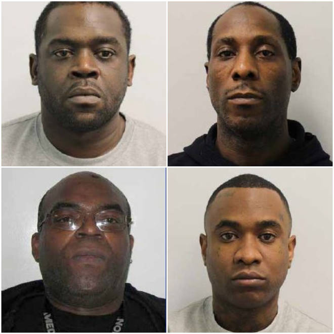 The four men have been jailed for a total of 70 years
