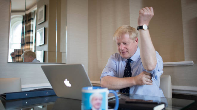 Prime Minister Boris Johnson prepares his keynote speech