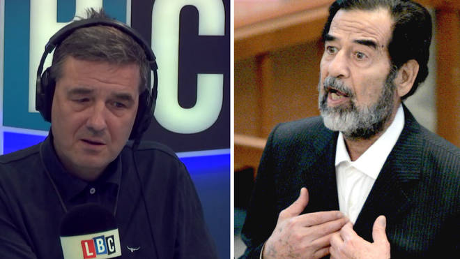 Iraqi caller tells Ian Payne his country is worse off since the fall of Saddam Hussein.