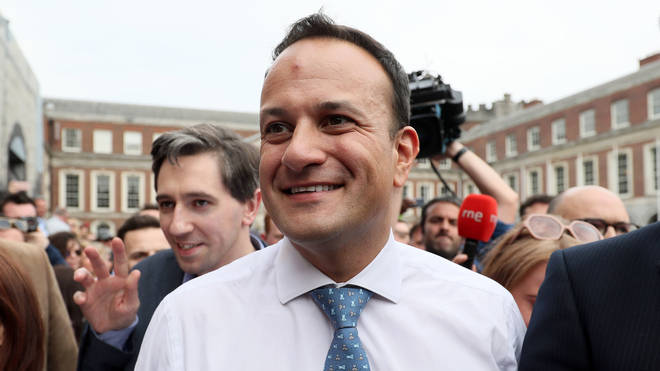 Leo Varadkar at the results of the Irish abortion referendum