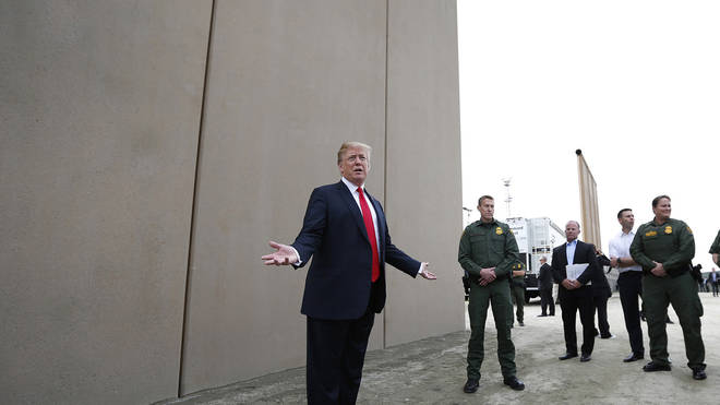The border wall was one of his key campaign pledges in 2016