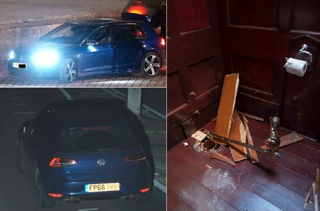 Police have released CCTV images of a vehicle believed to have been involved in the burglary of the toilet