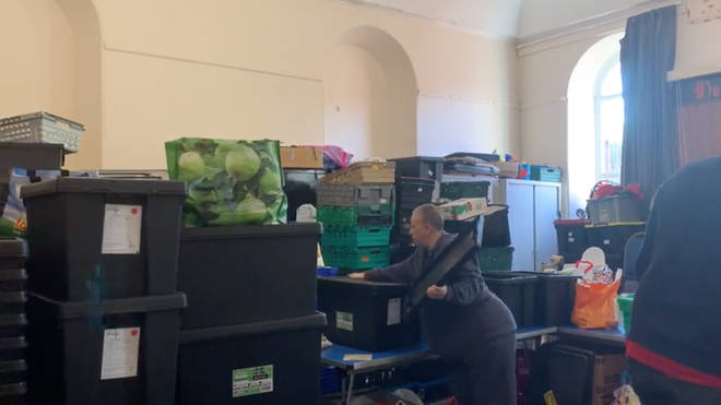 Food boxes were missing up to six items due to a lack of supplies