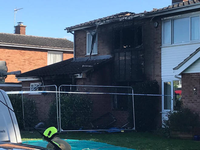A man and woman have died following a house fire in Suffolk