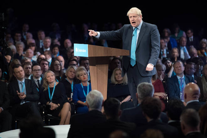 Boris Johnson pledged to deliver Brexit during his speech