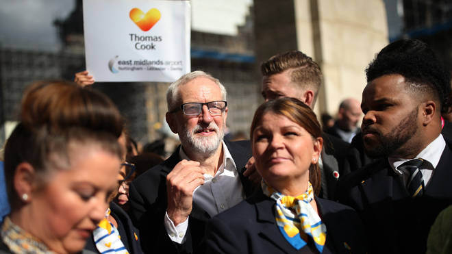 Mr Corbyn joined the protest on Wednesday