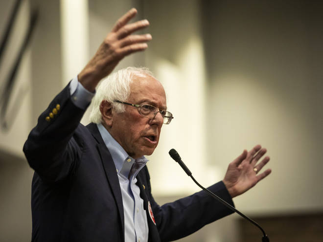 The Presidential candidate spoke during a rally at the Chicago Teachers Union headquarters