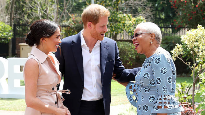 The Duke and Duchess of Sussex met with Graca Machel