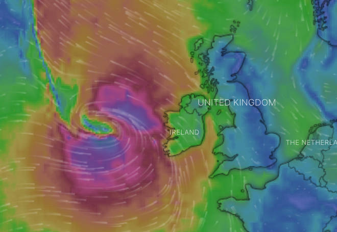Heavy winds are set to hit parts of the UK and Ireland