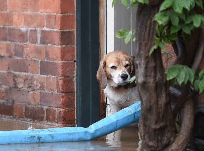 There was widespread flooding across England and Wales on Tuesday